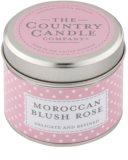 Country Candle Moroccan Blush Rose vela perfumada    en lata