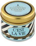 Country Candle Parisian Café dišeča sveča    v pločevinki