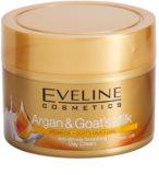 Eveline Cosmetics Argan & Goat´s Milk gladilna dnevna krema proti gubam