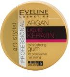 Eveline Cosmetics Argan + Keratin моделююча гума екстра сильної фіксації для волосся