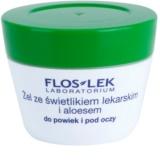 FlosLek Laboratorium Eye Care Gel pentru  jurul ochilor cu un luminator și aloe vera