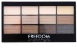 Freedom Pro 12 Audacious Mattes paleta de sombras de ojos con aplicador