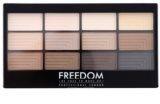 Freedom Pro 12 Audacious Mattes paleta očných tieňov s aplikátorom