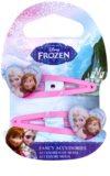 Frozen Princess pasadores para cabello en forma de corazón