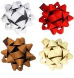 Giftino      estrella adhesiva decorativa grande, conjunto de 4 colores