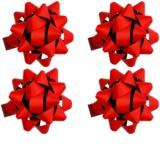 Giftino gwiazda samoprzylepna na prezenty duża mat 4 szt Red