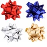 Giftino      étoile de décoration auto-collante - set 4 couleurs