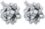 Giftino      gwiazda samoprzylepna na prezenty srebrna 2 szt
