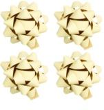 Giftino gwiazdy samoprzylepne na prezent małe - matowe w czterech kolorach Cream