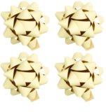 Giftino     estrella decorativa adhesiva mate, pequeña 4 uds Cream