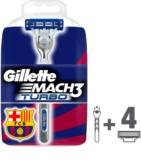 Gillette Mach 3 Turbo FCBarcelona maquinilla de afeitar + recambios de cuchillas 4 uds