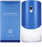 Givenchy Pour Homme Blue Label Eau de Toilette para homens 100 ml