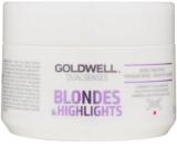 Goldwell Dualsenses Blondes & Highlights Regenerating Mask Neutralizes Yellow Tones