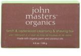 John Masters Organics Birch & Cedarwood Cleansing & Shaving Bar săpun multifuncțional pentru bărbați și femei