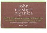 John Masters Organics Birch & Cedarwood Cleansing & Shaving Bar Multi-Purpose Soap for Men and Women
