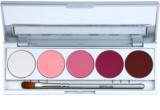 Kryolan Basic Eyes Palette mit 5 Lidschatten  inkl. Spiegel und Pinsel