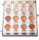 Kryolan Dermacolor Light Palette mit 16 Farbtönen cremigen Make ups