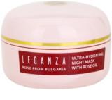 Leganza Rose vlažilna nočna maska