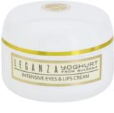 Leganza Yoghurt інтенсивний крем для шкіри очей та губ
