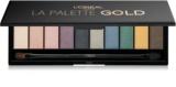 L'Oréal Paris Color Riche La Palette Gold paleta farduri de ochi cu oglinda si aplicator