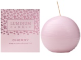 Luminum Candle Premium Aromatic Cherry Scented Candle   mini (Sphere 60 mm, 15 Hours)