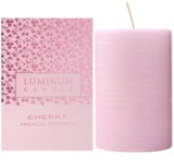 Luminum Candle Premium Aromatic Cherry vela perfumado   intermédio (Pillar 60 - 80 mm, 32 Hours)
