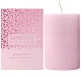 Luminum Candle Premium Aromatic Cherry Scented Candle   Medium (Pillar 60 - 80 mm, 32 Hours)