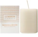 Luminum Candle Premium Aromatic Sandallwood Scented Candle   Medium (Pillar 60 - 80 mm, 32 Hours)