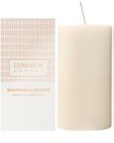 Luminum Candle Premium Aromatic Sandallwood Scented Candle   Large (Pillar 70 - 130 mm, 65 Hours)