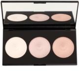 Makeup Revolution Beyond Radiance paleta de iluminadores con un espejo pequeño