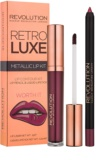 Makeup Revolution Retro Luxe Lippen-Set Metallic