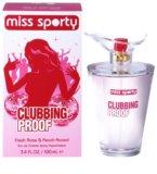 Miss Sporty Clubbing Proof Eau de Toilette para mulheres 100 ml