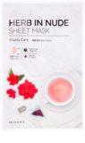 Missha Herb in Nude платнена маска за озаряване и виталитет на кожата