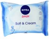 Nivea Baby Soft & Cream tisztító törlőkendő gyermekeknek