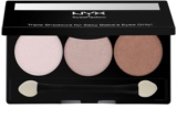NYX Professional Makeup Triple paleta očných tieňov