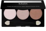 NYX Professional Makeup Triple paleta de sombras