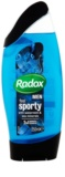 Radox Men Feel Sporty gel de duche e champô 2 em 1