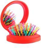 Rainbow Brush Pocket krtača za lase z ogledalom