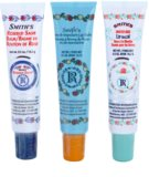 Rosebud Perfume Co. Smith's Rosebud Lip Balm Trio kosmetická sada (Rose & Mandarin, Rosebud Salve, Minted Rose)
