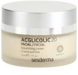 Sesderma Acglicolic 20 Facial подхранващ подмладяващ крем за суха или много суха кожа