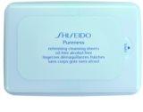 Shiseido Pureness Abschminktücher für die Tiefenreinigung