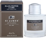 St. James Of London Black Pepper & Persian Lime After-Shave Gel für Herren 100 ml