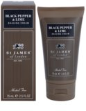 St. James Of London Black Pepper & Persian Lime krem do golenia dla mężczyzn 75 ml pakiet podróżny