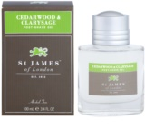 St. James Of London Cedarwood & Clarysage After-Shave Gel für Herren 100 ml