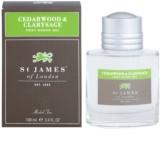 St. James Of London Cedarwood & Clarysage żel po goleniu dla mężczyzn 100 ml