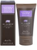 St. James Of London Lavender & Geranium krema za britje za moške 75 g potovalno pakiranje