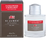 St. James Of London Sandalwood & Bergamot gel za po britju za moške 100 ml