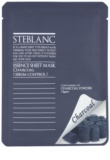 Steblanc Essence Sheet Mask Charcoal Cleansing Mask For Oily Skin