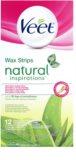 Veet Natural Inspirations bandas de cera depilatoria para pieles normales y secas