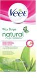 Veet Natural Inspirations as bandas de cera para depilação para pele normal e seca